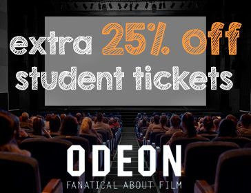 Odeon 25% off Student Discount