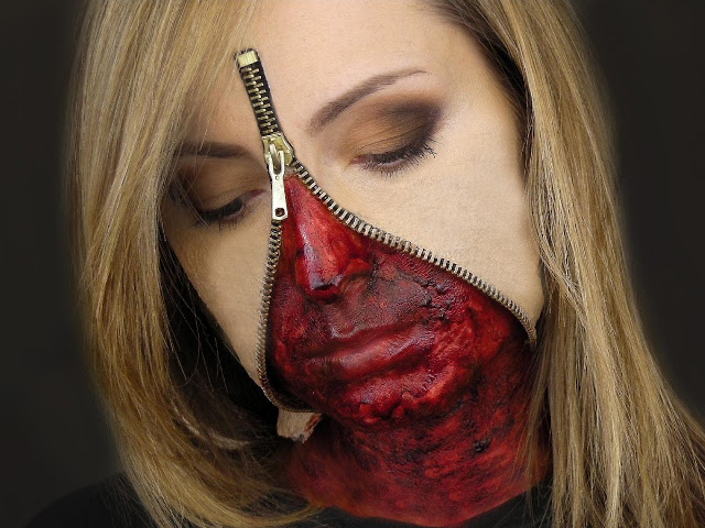 zipper face halloween costume