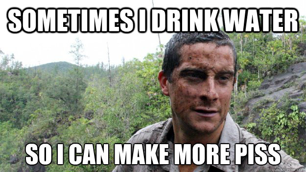 bear grylls drinking