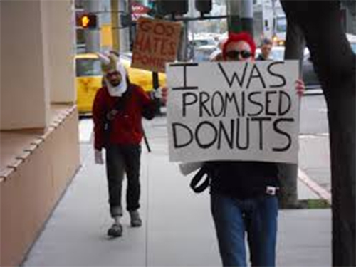 Donut protest