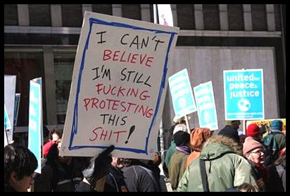 funny angry protest sign