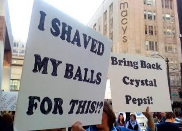 funny protest sign pepsi