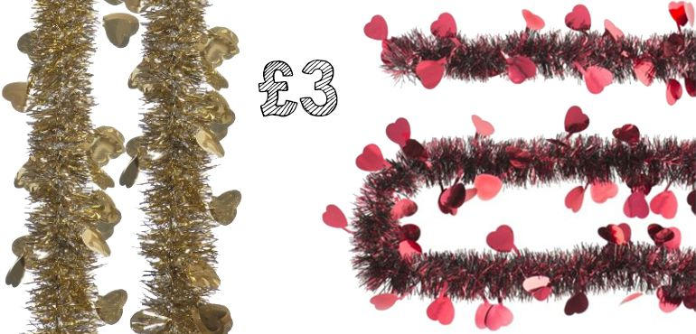 Heart shaped tinsel