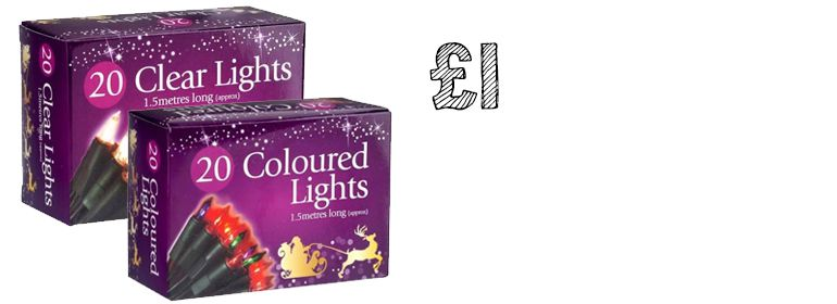 £1 christmas lights