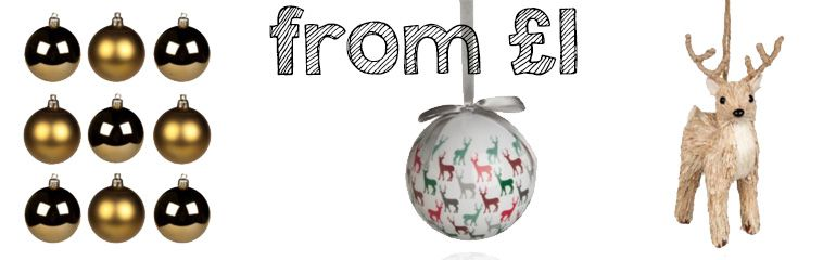£1 Christmas tree decorations