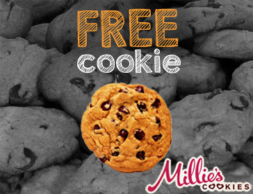 free cookie millie's cookies
