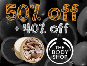 The Body Shop 50% off 40%