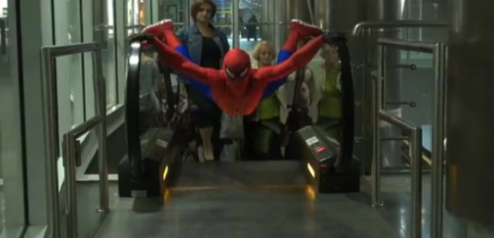 spider man escalator