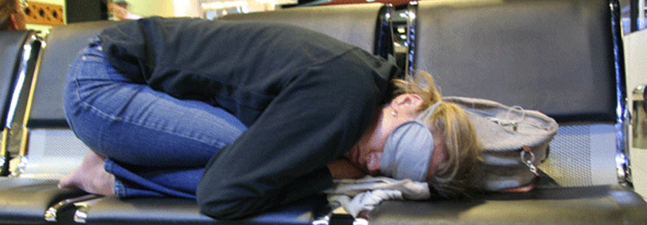 sleeping in airport