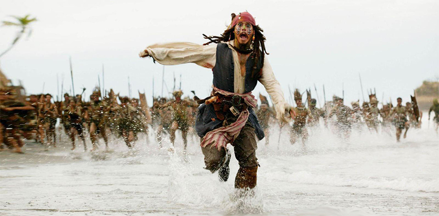 pirates of caribbean running