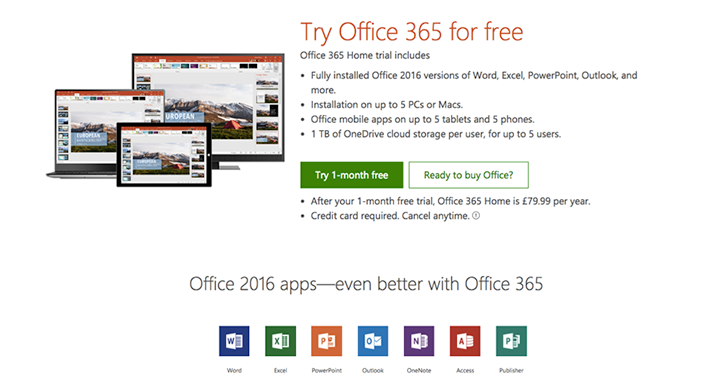 free trial microsoft office