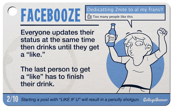 facebooze drinkng game
