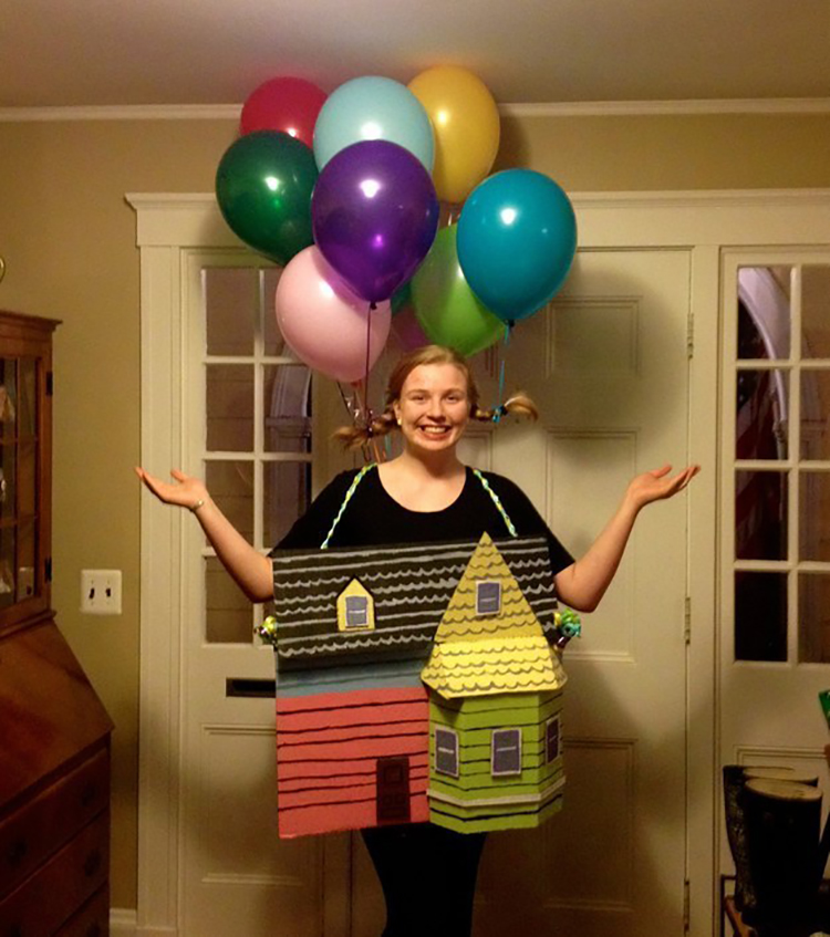 25) The house from up dressed up as a human woman  sc 1 st  Student Money Saver & Unique Halloween Costumes | Innovative Ideas | Student Money Saver