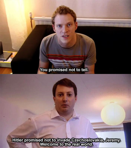 Emotional First Day At Work On First Day Of Co Hosting: Best Peep Show Quotes