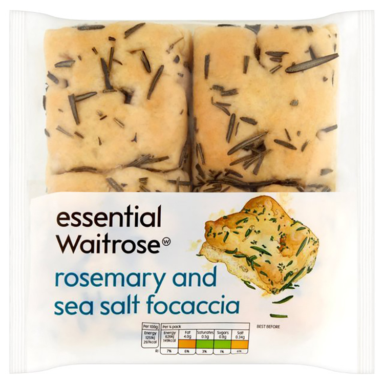 rosemary and seasalt focaccia waitrose