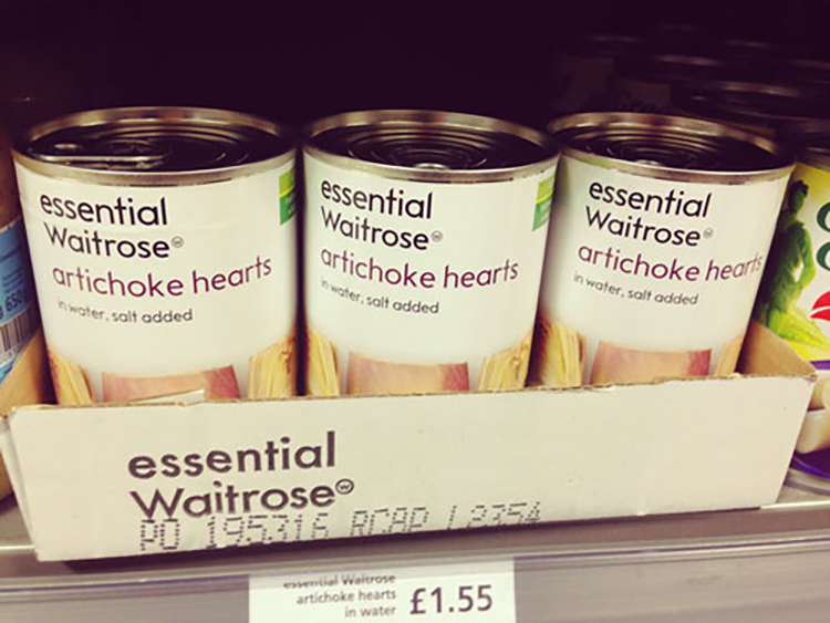 artichoke hearts waitrose essentials