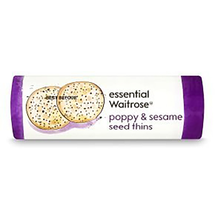 poppy and sesame seed thins waitrose