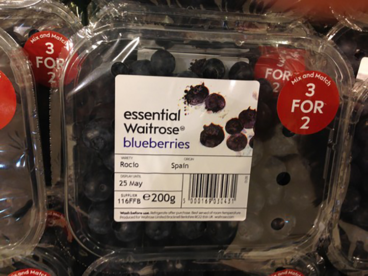 blueberries are waitrose essential